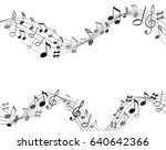 black and gray music notes on a ... | Shutterstock .eps vector #640642366