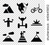 mountain icons set. set of 9... | Shutterstock .eps vector #640645852