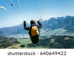 Paraglider Is On The Paraplane...