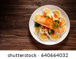 Grilled Salmon With Boiled...