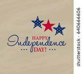 happy 4th of july  ... | Shutterstock .eps vector #640666606