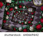 alice in wonderland. red  roses ...   Shutterstock . vector #640669642