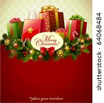 christmas background  vector... | Shutterstock .eps vector #64068484