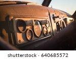 Old Truck. Interior Of A Sovie...