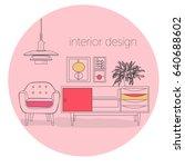 furniture interior design... | Shutterstock .eps vector #640688602