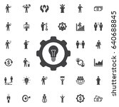 light bulb gear icon.  business ... | Shutterstock .eps vector #640688845