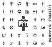 figure holding diagram icon.... | Shutterstock .eps vector #640688878