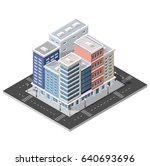 district of the city street... | Shutterstock .eps vector #640693696