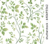 floral leaves seamless pattern. ... | Shutterstock .eps vector #640695562