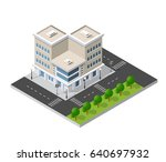 district of the city street... | Shutterstock .eps vector #640697932