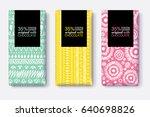 vector set of chocolate bar... | Shutterstock .eps vector #640698826