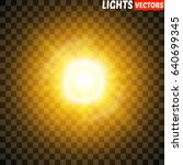 glow light effect. star burst... | Shutterstock .eps vector #640699345