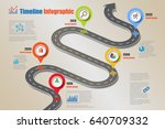 design template  road map... | Shutterstock .eps vector #640709332