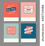 set of four thank you greeting... | Shutterstock .eps vector #640714486