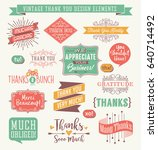 set of thank you card design... | Shutterstock .eps vector #640714492