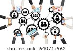 group of people with devices in ...   Shutterstock . vector #640715962