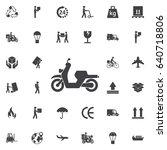 moped icon. vector illustration.... | Shutterstock .eps vector #640718806