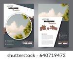 abstract flyer design... | Shutterstock .eps vector #640719472