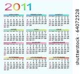 calendar 2011   Shutterstock .eps vector #64072528