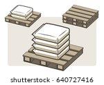 pallets ans sack depot | Shutterstock .eps vector #640727416