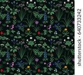 seamless floral pattern   Shutterstock .eps vector #640733242