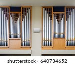 Organ Pipes Of Silver And Bras...