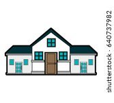 pretty family house icon image  | Shutterstock .eps vector #640737982