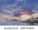 Sunset At Chania Town  In Cret...