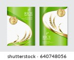 rice food or thai food  banner... | Shutterstock .eps vector #640748056