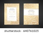 vintage wedding invitation... | Shutterstock .eps vector #640761025