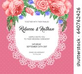 wedding invitation template... | Shutterstock .eps vector #640762426