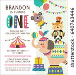 kids birthday party invitation... | Shutterstock .eps vector #640763446