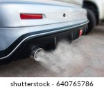 car exhaust pipe comes out... | Shutterstock . vector #640765786