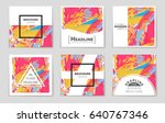 abstract vector layout... | Shutterstock .eps vector #640767346