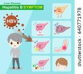liver and hepatitis b symptom...   Shutterstock .eps vector #640771978