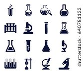 lab icons set. set of 16 lab... | Shutterstock .eps vector #640781122