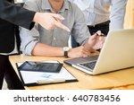 team work process. young... | Shutterstock . vector #640783456