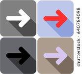 arrow icon flat style isolated...