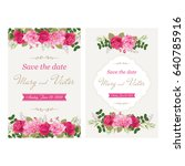wedding invitation cards with... | Shutterstock .eps vector #640785916