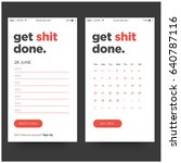 get shit done day planner and... | Shutterstock .eps vector #640787116