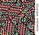 creative ethnic style square... | Shutterstock .eps vector #640787122