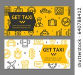 taxi line service flyer banner... | Shutterstock .eps vector #640788412