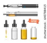 realistic trend vaping...   Shutterstock .eps vector #640788415