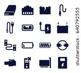 charger icons set. set of 16... | Shutterstock .eps vector #640792555