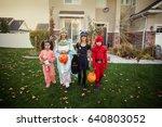 group of kids dressed in... | Shutterstock . vector #640803052