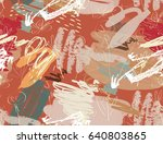 doodles with grunge texture... | Shutterstock .eps vector #640803865