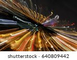 night traffic in the city  car... | Shutterstock . vector #640809442
