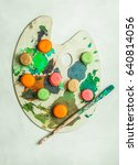 colorful french macaroons...   Shutterstock . vector #640814056
