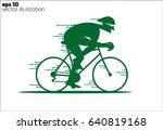cartoon rapid cyclist logo | Shutterstock .eps vector #640819168