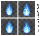 abstract fire blue flame light... | Shutterstock .eps vector #640822462